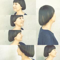 モード マッシュ ショート ボブ ヘアスタイルや髪型の写真・画像