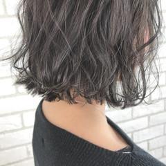 ナチュラル ヘアアレンジ ボブ ヘアスタイルや髪型の写真・画像