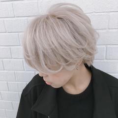 3Dハイライト ストリート ハイライト ホワイトシルバー ヘアスタイルや髪型の写真・画像