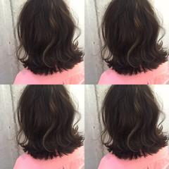 ボブ 外ハネ ストリート ハイライト ヘアスタイルや髪型の写真・画像