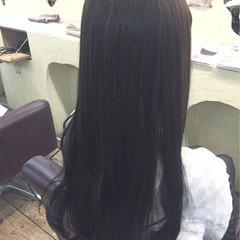 フェミニン 暗髪 ブルージュ ロング ヘアスタイルや髪型の写真・画像