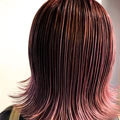 ボブ ピンクラベンダー ストリート ピンクアッシュ ヘアスタイルや髪型の写真・画像