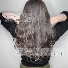 外国人風カラー イルミナカラー ロング 透明感カラー ヘアスタイルや髪型の写真・画像