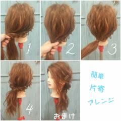 ゆるふわ ナチュラル ヘアアレンジ フェミニン ヘアスタイルや髪型の写真・画像