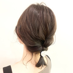 ヘアアレンジ 三つ編み デート 簡単ヘアアレンジ ヘアスタイルや髪型の写真・画像