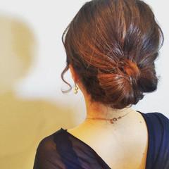編み込み ヘアアレンジ ボブ 結婚式 ヘアスタイルや髪型の写真・画像