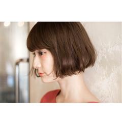 イルミナカラー ナチュラル 似合わせ ショートボブ ヘアスタイルや髪型の写真・画像