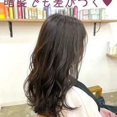 透明感カラー 韓国ヘア ガーリー ロング ヘアスタイルや髪型の写真・画像