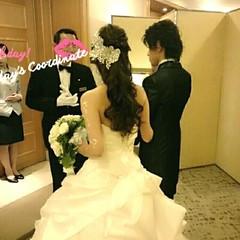 ブライダル ハーフアップ 大人かわいい 結婚式 ヘアスタイルや髪型の写真・画像