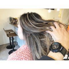 外国人風カラー ハイライト 外国人風 ナチュラル ヘアスタイルや髪型の写真・画像