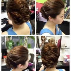 ルーズ ヘアアレンジ アップスタイル 抜け感 ヘアスタイルや髪型の写真・画像