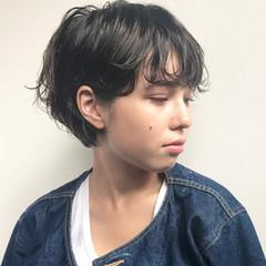 ショートボブ ショート パーマ ナチュラル ヘアスタイルや髪型の写真・画像