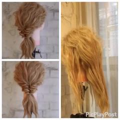 簡単ヘアアレンジ ゆるふわ ヘアアレンジ セミロング ヘアスタイルや髪型の写真・画像
