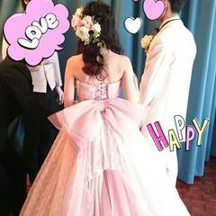 結婚式 ハーフアップ ブライダル ロング ヘアスタイルや髪型の写真・画像