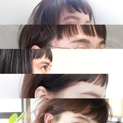 オン眉 束感 ナチュラル ショート ヘアスタイルや髪型の写真・画像