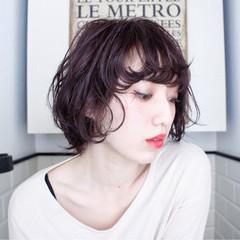 ショートボブ ショート ナチュラル ニュアンス ヘアスタイルや髪型の写真・画像