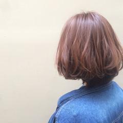 ナチュラル イルミナカラー ボブ 艶髪 ヘアスタイルや髪型の写真・画像