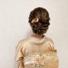 結婚式ヘアアレンジ 結婚式 訪問着 エレガント ヘアスタイルや髪型の写真・画像
