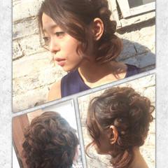 編み込み ショート ゆるふわ ヘアアレンジ ヘアスタイルや髪型の写真・画像