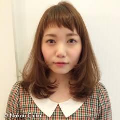 モテ髪 ミディアム 愛され 卵型 ヘアスタイルや髪型の写真・画像