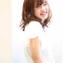 涼しげ 夏 アッシュ ガーリー ヘアスタイルや髪型の写真・画像
