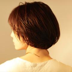大人かわいい ボブ ショートヘア マッシュショート ヘアスタイルや髪型の写真・画像