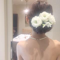 結婚式 ウェーブ エレガント ヘアアレンジ ヘアスタイルや髪型の写真・画像