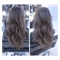 モード ストリート 秋 ロング ヘアスタイルや髪型の写真・画像