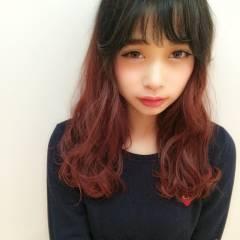 秋 モード ウェーブ セミロング ヘアスタイルや髪型の写真・画像