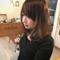 外国人風カラー デート ミディアム かわいい ヘアスタイルや髪型の写真・画像