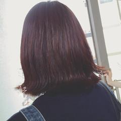 ロブ ウェットヘア ミディアム ガーリー ヘアスタイルや髪型の写真・画像