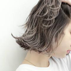 ストリート 外国人風 ハイライト ボブ ヘアスタイルや髪型の写真・画像