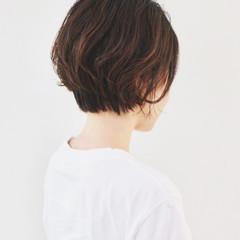 ショートボブ ベージュ ナチュラル オレンジベージュ ヘアスタイルや髪型の写真・画像
