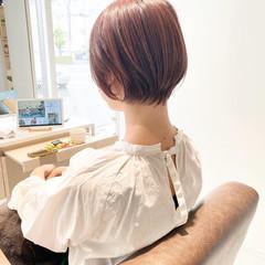 小顔ショート ナチュラル ショート ミニボブ ヘアスタイルや髪型の写真・画像