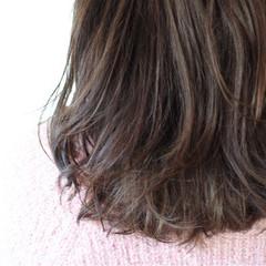 外国人風 ゆるふわ パーマ セミロング ヘアスタイルや髪型の写真・画像