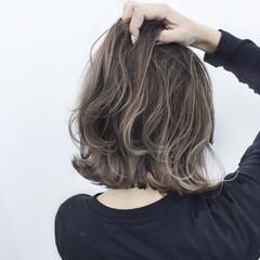 ボブ 外国人風 ナチュラル ハイライト ヘアスタイルや髪型の写真・画像