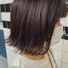 切りっぱなしボブ 透明感カラー ボブ アッシュ ヘアスタイルや髪型の写真・画像