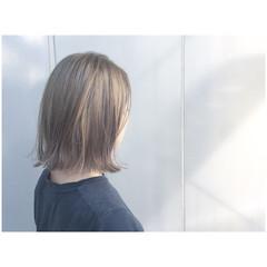 ボブ アッシュ 外国人風カラー グレージュ ヘアスタイルや髪型の写真・画像