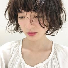 大人女子 色気 ボブ フリンジバング ヘアスタイルや髪型の写真・画像