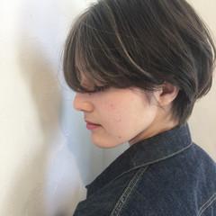 ナチュラル マッシュ ショートボブ ショート ヘアスタイルや髪型の写真・画像