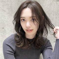ミディアム ナチュラル 髪質改善 髪質改善トリートメント ヘアスタイルや髪型の写真・画像