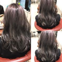 暗髪 ロング アッシュ ストリート ヘアスタイルや髪型の写真・画像