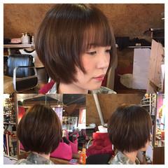 アッシュ 小顔 ショート マッシュ ヘアスタイルや髪型の写真・画像