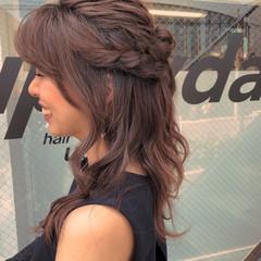 ヘアアレンジ ロング イルミナカラー ナチュラル ヘアスタイルや髪型の写真・画像