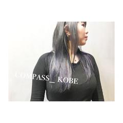モード イノセントカラー オン眉 シースルーバング ヘアスタイルや髪型の写真・画像