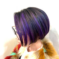 グラデーションカラー ボブ ナチュラル ハイライト ヘアスタイルや髪型の写真・画像