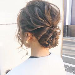 アンニュイほつれヘア 結婚式 ナチュラル 簡単ヘアアレンジ ヘアスタイルや髪型の写真・画像