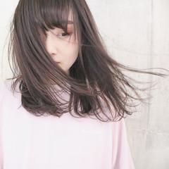 大人かわいい ラベンダーピンク グレージュ ナチュラル ヘアスタイルや髪型の写真・画像