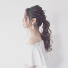 ポニーテール ヘアアレンジ ロング 大人女子 ヘアスタイルや髪型の写真・画像