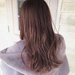 ピンク ロング ピンクパープル ピンクベージュ ヘアスタイルや髪型の写真・画像